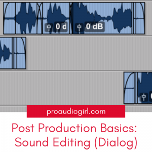 Post-Production Basics: Sound Editing – Dialog