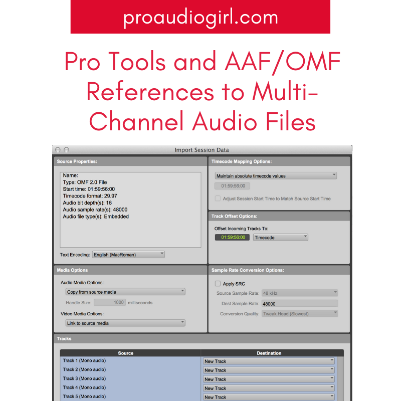 Pro Tools Does Not Support Import of AAF/OMF References to Multi